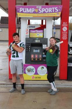 Gas pump fundraiser photo